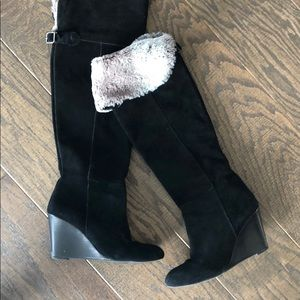 BCBG over knee black boots